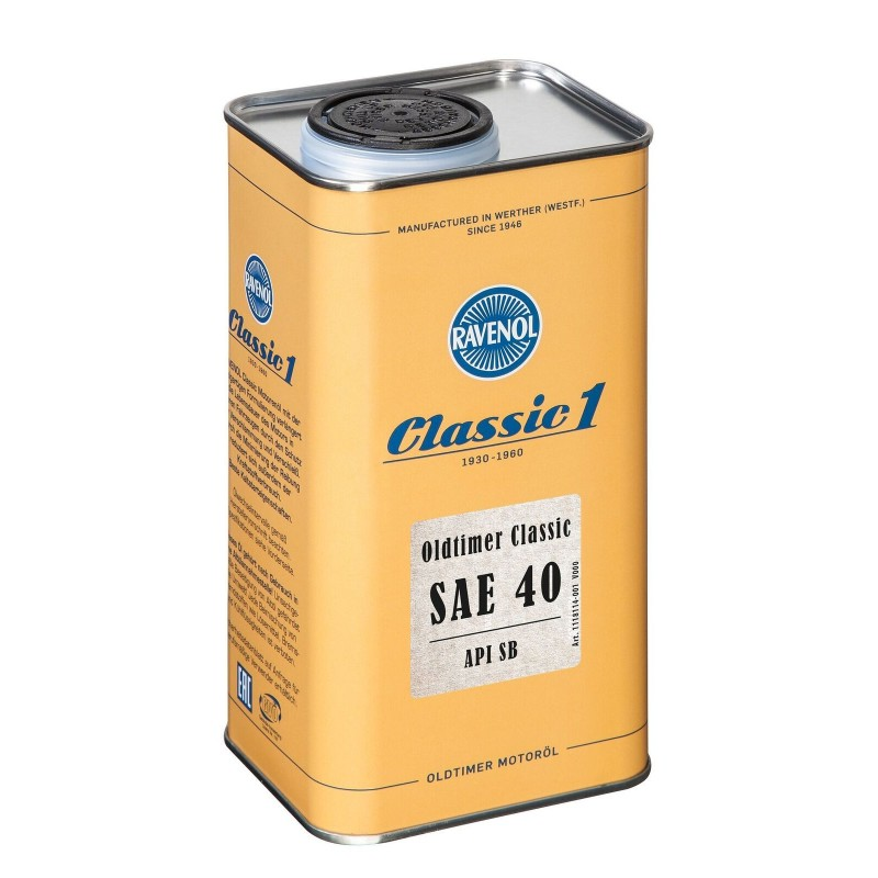 Alyva Ravenol Oldtimer Classic SAE 40 API SB 5L