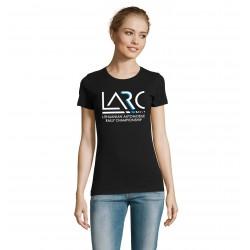 Moteriški marškinėliai LARČ, juodi